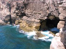 Mouth of hell. Boca de inferno (mouth of hell) just outside of Cascais, Portugal Stock Photo