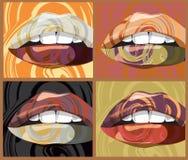 Mouth illustration Stock Photos