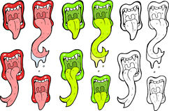 Mouth illustrations Royalty Free Stock Image