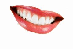 mouth la donna sorridente fotografia stock libera da diritti