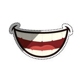Mouth laughing cartoon. Icon  illustration graphic design Stock Photos