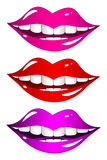 Mouth laughs. Set Royalty Free Stock Photo