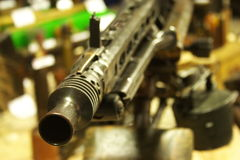 The Mouth of a Machine Gun Stock Image