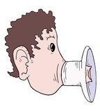 Mouth megaphone Stock Image