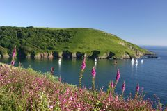 Mouth Of Yealm Estuary South Hams Royalty Free Stock Images