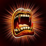 Mouth Open Blood Fang Halloween Vampire Jaws Fang Stamp Print Royalty Free Stock Images