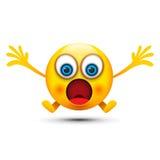 Mouth opened shocked emoji Stock Photos