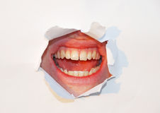 Mouth over white Royalty Free Stock Photography