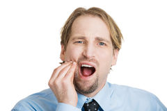 Mouth pain Stock Photos