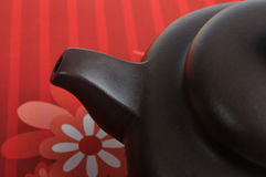 Mouth part of Chinese tea pottery Royalty Free Stock Photography