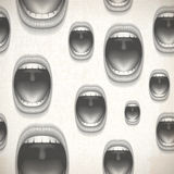 Mouth pattern Stock Photography