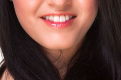Mouth of a pretty girl Royalty Free Stock Image