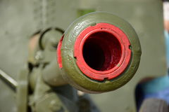 Mouth of a retro cannon in a closeup view Royalty Free Stock Images