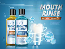 Mouth rinse ads stock illustration