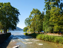 Mouth of the river Cassarate Royalty Free Stock Photo