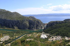 The mouth of the river Cetina. In the town Omis Royalty Free Stock Photography