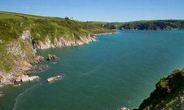 The mouth of the River Dart estuary in Devon Royalty Free Stock Photos