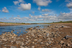 The mouth of the river Inagh at Lahinch in the West of Ireland Royalty Free Stock Image