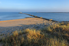 Mouth of the river Vistula in Gdansk Stock Photos