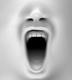 Mouth screaming Royalty Free Stock Photos