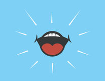 Mouth Shout Stock Images
