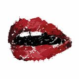 Mouth with teeth, lips royalty free stock photos