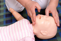 Mouth-to-mouth resuscitation Royalty Free Stock Photos
