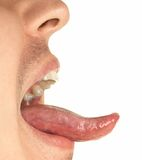 Mouth and tongue Stock Photos