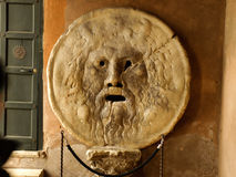 Mouth of truth. Is one of the Rome symbols Royalty Free Stock Image