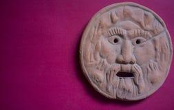 Mouth of Truth or Bocca della Verità. Replica of  the famous marble mask in Rome, Italy Stock Photo