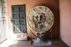 The Mouth of Truth Bocca della Verita, Church of Santa Maria i. N Cosmedin in Rome, Italy Stock Photography