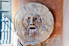 Mouth of Truth in Rome. Mouth of Truth - Bocca della Verita, Rome, Italy royalty free stock photography
