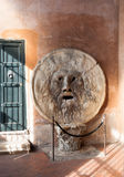 Mouth of truth in Rome. The Mouth of Truth in Rome, Italy - Bocca della Verita - lie detector according to the legend royalty free stock image