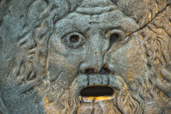 Mouth of truth in rome. Reproduction of mouth of truth in rome stock images