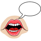 Mouth Vector Cartoon Style Speech Bubble Royalty Free Stock Photo