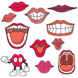 Mouth. Vector set of mouth cartoon Royalty Free Stock Image
