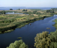 Mouth of the Vorskla river. (tributary of the Dnipro). Poltava region, Ukraine Royalty Free Stock Image