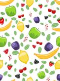 Mouth-watering fruit seamless pattern Royalty Free Stock Photos