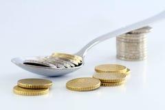Mouthful of money Stock Image