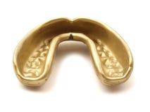 Mouthguard dorato Fotografia Stock Libera da Diritti