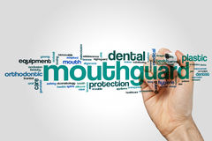 Mouthguard word cloud Royalty Free Stock Photos