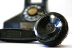 Mouthpeice av den gamla telefonen fotografering för bildbyråer