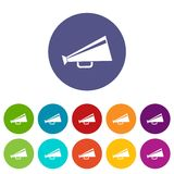 Mouthpiece set icons. In different colors isolated on white background Royalty Free Stock Images