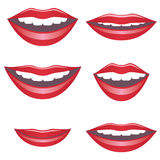 Mouths. Royalty Free Stock Images