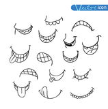 Mouths collection in different expressions.  icon illustration Stock Photography
