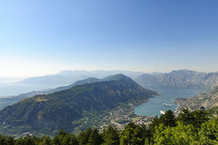 The mouths of kotor, montenegro, europe, view. View of the mouths of kotor from above Royalty Free Stock Photos