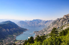 The mouths of kotor, montenegro, europe, view. View of the mouths of kotor from above Royalty Free Stock Images