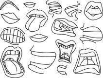 Mouths Stock. Collection of many vector Mouths stock illustration