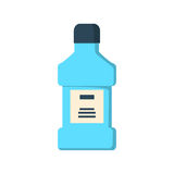 Mouthwash bottle isolated Royalty Free Stock Photo