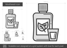 Mouthwash line icon. Royalty Free Stock Images